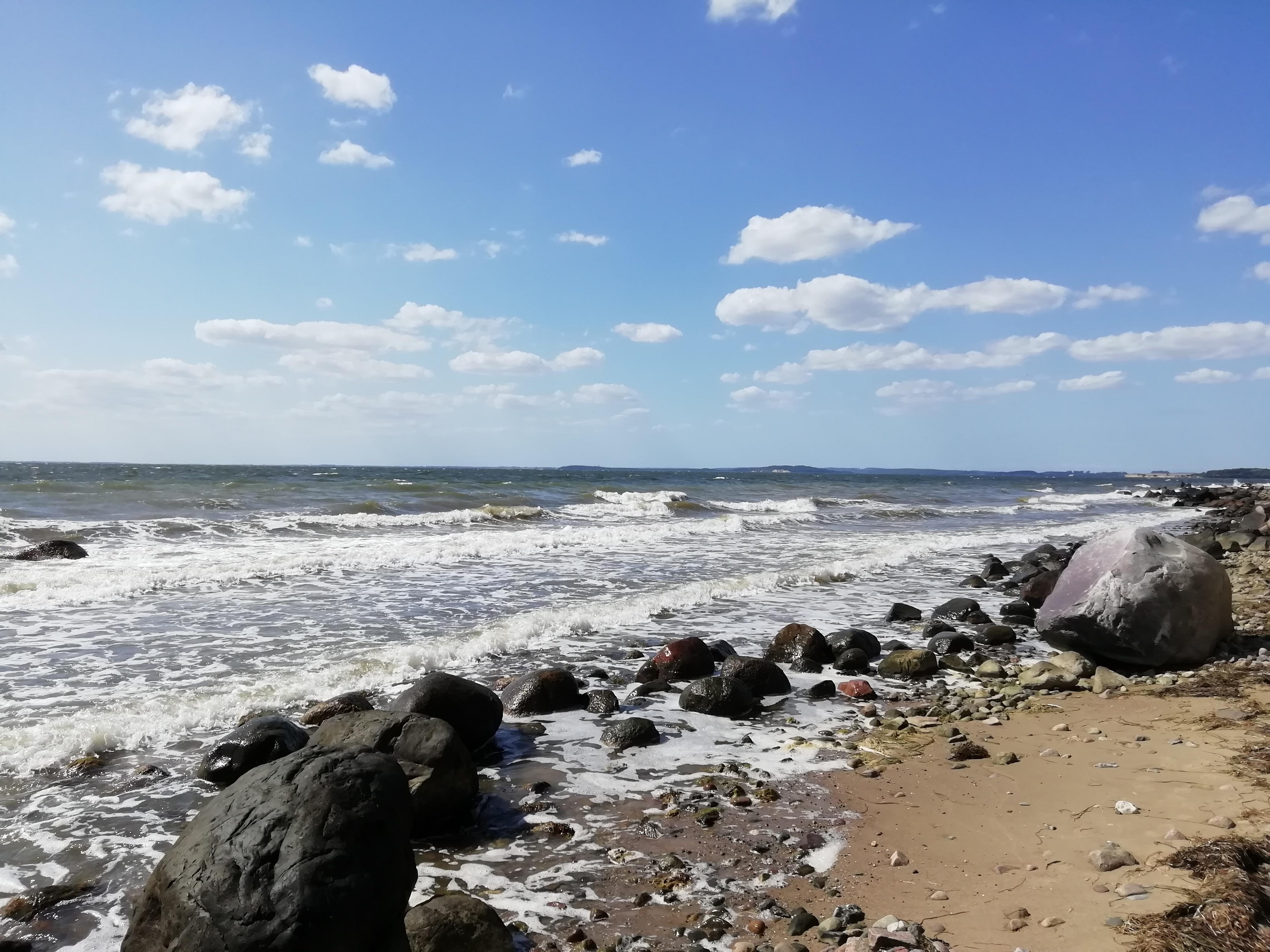 Warmer Sommer 2019 auch an der Ostsee.