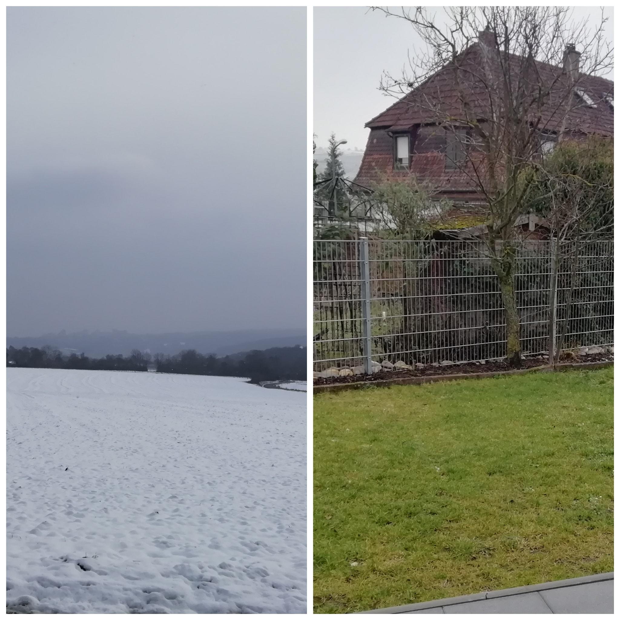 Winter 2021 oft mit Schnee und Tauwetter